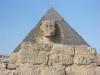 pyramids and sphinx in giza plateau