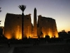 luxor temple at sun set