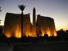 luxor temple at sun set